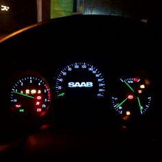 The Night Panel Cockpit On The Saab 9-5 Aeroscoop