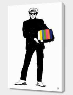 """""""Andy"""", Exclusive Edition Canvas Print by dacoffeetime - From $69.00 - Curioos"""