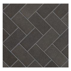 Basalt Mosaic Tile Herringbone 1 4 X 2