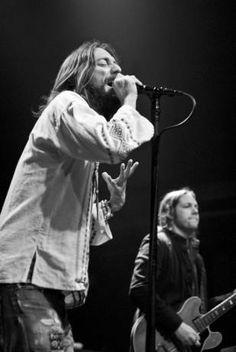 Chris & Rich Robinson of The Black Crowes. Yes I'm only getting into their stuff now but wow what a band!