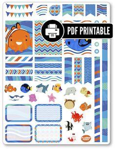 Peces amigos Kit PDF imprimible planeador por PlannerPenny en Etsy