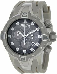 Invicta Men's 0646 Reserve Collection Sea Excursion Chronograph Light Grey Polyurethane Watch Invicta. $259.95. Chronograph functions with 60 second, 30 minute and 1/10th of a second subdials; date function. Grey dial with luminous silver-tone hands, hour markers and white second hand; grey and silver-tone stainless steel unidirectional bezel, screw-down crown and pushers. Durable flame-fusion crystal; brushed and polished stainless steel case; light grey polyurethane strap. Pre...