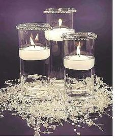Center pieces for winter wedding.