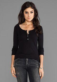 LA MADE Long Sleeve Reglan Top in Black at Revolve Clothing - Free Shipping!