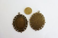 4 pcs cameo base 30x40mm antique brass cb 18 by XeSDesign on Etsy, €3.99