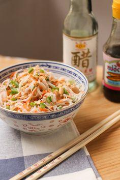 salade de vermicelles de riz à la coriandre et cacahuètes - asian rice noodle salad (1 of 1)-2