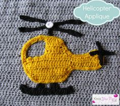 Boys Will Be Boys Blanket Helicopter Applique