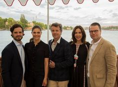 28 May 2017 - Prince Frederik and Princess Mary arrive in Stockholm for their visit - dress by March 11