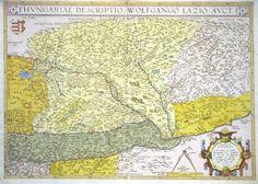 Jonathan Potter: Map : Hungariae Descriptio ... Vintage World Maps, Poland