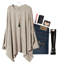 this top by brooklm on Polyvore featuring polyvore fashion style Abercrombie & Fitch Hunter Kate Spade Kenneth Jay Lane NARS Cosmetics Clarins clothing