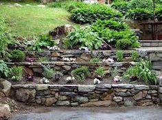 terraced backyard designs - Google Search