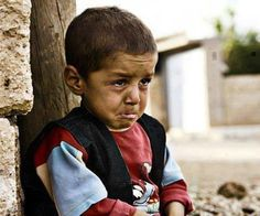 Crying for the loss of his mom. Isn't sad how that's an everyday thing for a child in Palestine? Ya allah help our brothers and sisters overcome the depression.