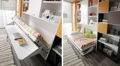 Muebles Juveniles Slang cama abatible con mesa