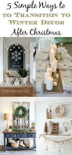 Adding wood and white winter decor after Christmas makes your home feel warm and cozy and creates the perfect space to snuggle.