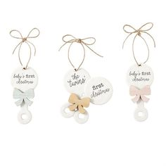 Babys First Christmas Ornament Assorted Styles