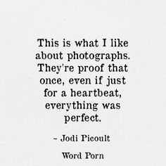 Thinking about old photographs and memories.