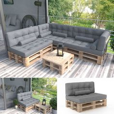 Palettenkissen KALTSCHAUM Kissen Palettensofa Palettenmöbel Palette Couch Sofa … - Pin Tutorial and Ideas Pallet Garden Furniture, Balcony Furniture, Diy Outdoor Furniture, Diy Furniture, Furniture Storage, Furniture Websites, Outdoor Rooms, Furniture Makeover, Indoor Outdoor