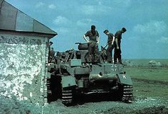 German World War 2 Colour Rear Of Panzer IV Tank In Russia 1943