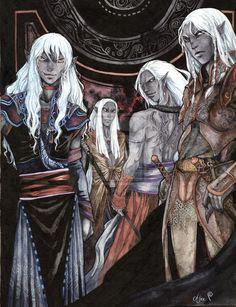 Dark Elves by Alice-Bobbaji