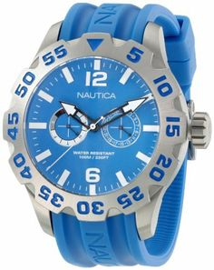 Nautica Men's N16607G Bfd 100 Multi Watch NAUTICA. $99.99. 46mm. Durable mineral crystal protects watch from scratches. Water resistant to 330 feet. Stainless steel case. Quartz movement