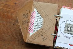like the envelope and doodles! - might be good to save all those 'clipped' recipes from magazines...