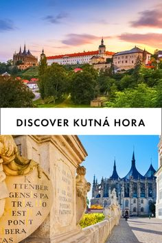Kutná Hora is a small town in Central Bohemia, near Prague. It may be a small town today, but centuries ago it competed for importance with the Golden City. Great Places, Places Ive Been, Places To Go, Day Trips From Prague, World Heritage Sites, Small Towns, Austria, Barcelona Cathedral, Travel Destinations