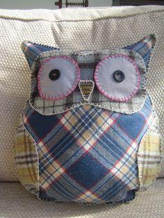 Tartan Owl Cushion
