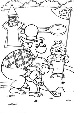 top 25 berenstain bears coloring pages for your toddlers - Berenstain Bears Coloring Book