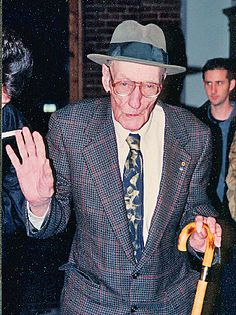 William S Burroughs - Beat Generation Artist, Writer, Drug Addict, Alcoholic, Accused Murderer, William Burroughs at his Art Opening and Book Signing in Kansas City, Missouri 1996. This was about a year before he died. Google him, he is really crazy! Friend of Jack Kerouac and Allen Ginsberg. Kansas City, Missouri USA ~ Copyright ©2012 Bob Travaglione ~ FoToEdge Images ~ www.FoToEdge.com