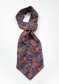 Ascot marineblau Paisleys Blumenmotive