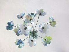 Soft Hues of Blue Bouquet of Forever Blooming Tin by thedustyraven