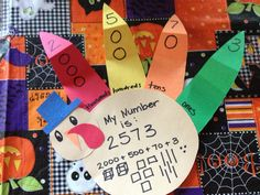 I wanted to have a little fun with place value  and whole numbers and get a little Thanksgiving art in so I made up these little turkeys. Students had to choose their own number and build it. They also have to represent it in all the forms we have learned. Today we will be rounding them, comparing them, and adding/subtracting them. Happy Thanksgiving!  K.