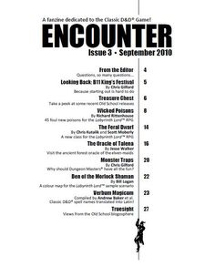 magazine table of contents images | Table of contents: Encounter Magazine