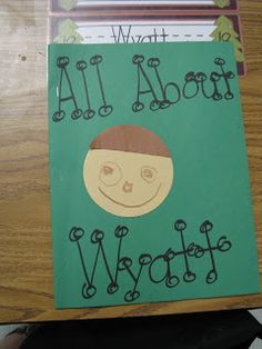 Wills Valley KinderKats: All About Me/Name Activities