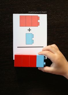 LEGO Addition Cards – Playdough To Plato - Kinderspiele Lego Activities, Kindergarten Math Activities, Homeschool Math, Math Games, Teaching Math, Math Addition, Addition And Subtraction, Subtraction Games, Kindergarten Addition