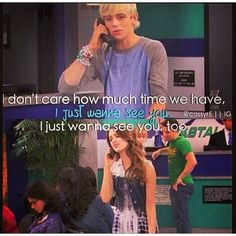 """""""I just wanna see you. Old Disney Shows, Austin Moon, Laura Marano, Austin And Ally, Girl Meets World, Lady And The Tramp, Ross Lynch, Disney Memes, Disney Channel"""