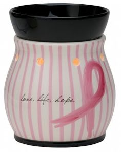 Love, Life, Hope Breast Cancer Warmer: The new Scentsy Family Foundation Charitable Cause Warmer spread a message of hope to breast cancer survivors and their families. of all net proceeds were made to The National Breast Cancer Foundation. Breast Cancer Survivor, Breast Cancer Awareness, Save The Tatas, Scentsy, Love Life, The Help, The Cure, Cancer Walk
