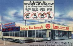 Mammy's Donut Waffle Shop, Atlantic City.  I wish this combination restaurant still existed.  Click on the link for lots more cool postcards...