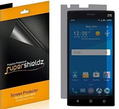 [2 Pack] SUPERSHIELDZ- Privacy Anti-Spy Screen Protector Shield For ZTE Zmax 2   Lifetime Replacements Warranty - Retail Packaging ** Read more reviews of the product by visiting the link on the image.
