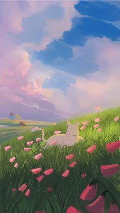 Aesthetic Desktop Wallpaper, Soft Wallpaper, Wallpaper Iphone Cute, Aesthetic Backgrounds, Pattern Wallpaper, Cute Wallpapers, Moomin Wallpaper, Moomin Valley, Tove Jansson