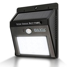 BAXIA TECHNOLOGY Waterproof Wireless Solar Motion Sensor Night Lights >>> See this great product.