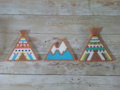 Tipi, montagne....perle hama by esperluette