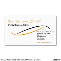 71 best dental dentist office business card templates images on orange and black dental implant clinic office appointment card cheaphphosting Gallery