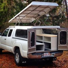 63 super Ideas truck camper shell camping pop up Truck Bed Camping, Truck Tent, Tent Camping, Camping Ideas, Pop Up Truck Campers, Pickup Camper, Camper Trailers, Pickup Trucks, T3 Doka