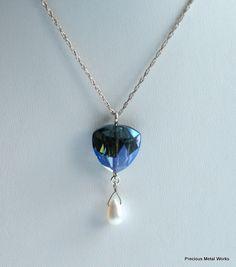 Blue Grotto handmade sterling silver and by preciousmetalworks, $36.00