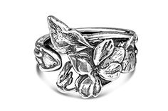 Silver Spoon Floral Adjustable Antique Inspired Ring Elaine R by Silver Spoon -- Awesome products selected by Anna Churchill
