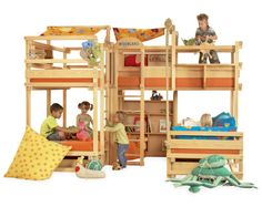 bunk beds are ideal space saving solutions for large families with two or more children cool kids bunk beds from woodland easily could help you to create