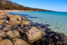 Hazards Beach on the Freycinet Peninsula in Tasmania, Australia