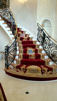 🏚■Interior designer and furniture 🌋Designer: [[■Mr. Luxury Staircase, Staircase Railings, Grand Staircase, Staircase Design, Staircases, Photo Frame Wallpaper, Framed Wallpaper, Photo Booth Background, Background For Photography