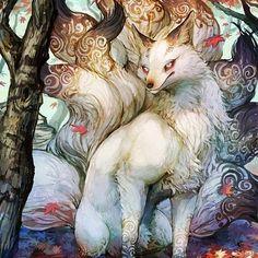 Şinto Tanrısı İnari'nin Hizmetçisi Büyülü Tilki Kitsune